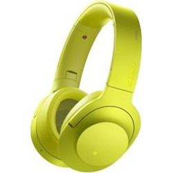 Sony MDR100 h.Ear on Wireless NC On-Ear Bluetooth Headphones w/ NFC – Lime Yellow