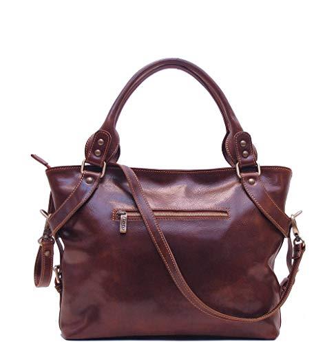 Floto Brown Taormina Bag in Italian Calfskin Leather – handbag, shoulder bag, hobo