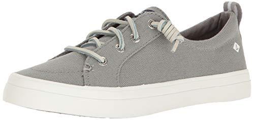 Sperry Women's CREST VIBE LINEN Shoe, grey, 8 M US