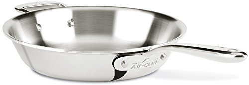 All-Clad SD75710 D7 18/10 Stainless Steel 7-Ply Bonded Construction Dishwasher Safe Oven Safe Skillet Fry Pan, 10-Inch, Silver