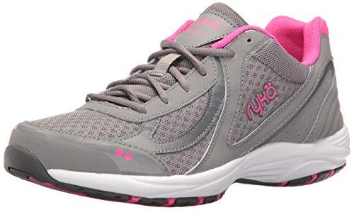 Ryka Women's Dash 3 Walking Shoe, Grey/Pink, 7.5 M US