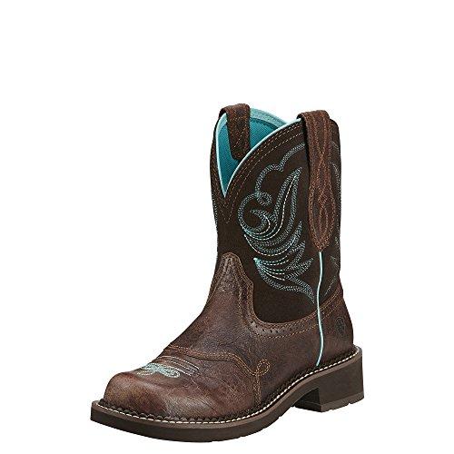 Ariat Women's Fatbaby Heritage Dapper Western Cowboy Boot, Royal Chocolate/Fudge, 9 M US
