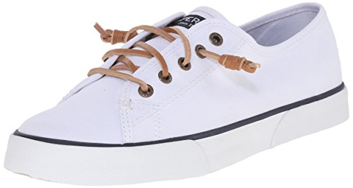 Sperry Women's Pier View Sneaker, White, 8 Medium US