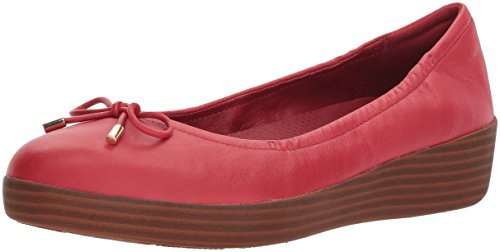 FitFlop Womens Superbendy Ballerinas Loafer Flat, Classic red, 6.5 M US