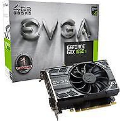 EVGA GeForce GTX 1050 Ti 4GB 1290MHz Gaming Graphics Card