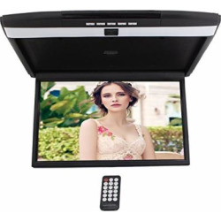 "HD 17"" Digital TFT Monitor Car Roof Mount Display for cars Flip Down Monitor built-in FM Modulator Overhead player USB SD 2 Video input"