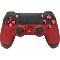 """Red & Black Fade """"Soft Touch"""" Modded PS4 Rapid Fire Controller, Works With All Games, COD, Rapid Fire, Dropshot, Akimbo & More"""