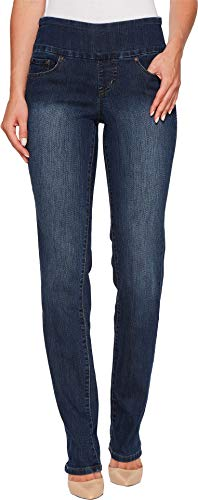 Jag Jeans Women's Peri Straight Pull on Jean, Anchor Blue, 8