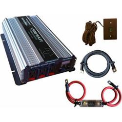 VertaMax Pure SINE Wave 1500 Watt (3000W Surge) 12V Power Inverter DC to AC Power (Cables + Remote Control Switch + ANL Fuse) – Solar, RV