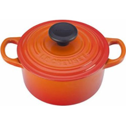 Le Creuset Signature Enameled Cast-Iron 1-Quart Round French (Dutch) Oven, Flame