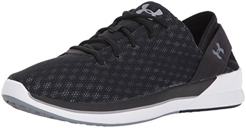 Under Armour Women's Rotation Sneaker, Rhino Gray (100)/Black, 8.5