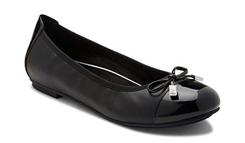 Vionic Women's Spark Minna Ballet Flat Black 8.5N