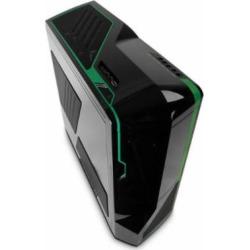 NZXT PHANTOM ATX Full Tower Computer Case, Black and Green (PHAN-002GR)