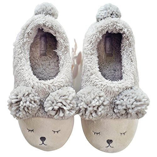 HALLUCI Women's Cozy Fleece Memory Foam House Trick Treat Halloween Slippers (7-8 M US, The Sheep)