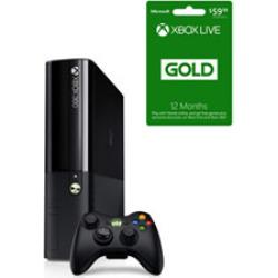 Used Xbox 360 (E) 250Gb System – Black (Gamestop Premium Used) With