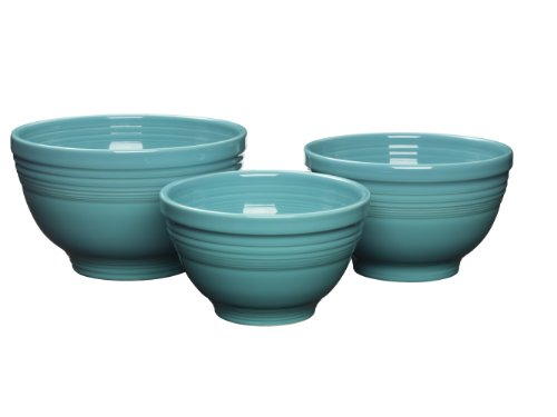 Fiesta 967-107 3-Piece Baking Bowl Set, Turquoise