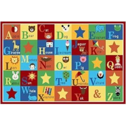 Kids Rug ABC Animals Children Anti-Skid Area Rug, 6'6×9'2