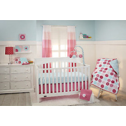 Little Bedding Tickled Pink 3 Piece Crib Bedding Set 4472276