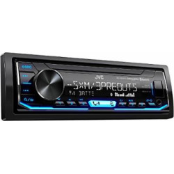 JVC KD-X350BTS 1-Din Car Digital Media Bluetooth Receiver USB/iPhone/SiriusXM