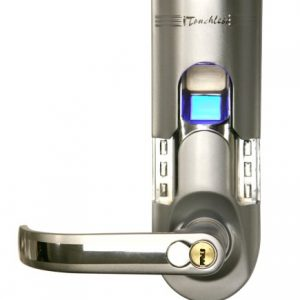 itouchless bio matic fingerprint door lock left handle silver 300x300 - iTouchless - Bio-Matic Deadbolt Fingerprint Door Lock