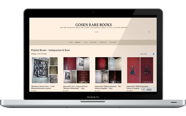 Web Design for Antiquarian Bookstore