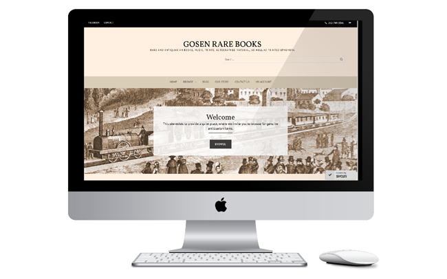 Web Design for an Antiquarian Book Shop