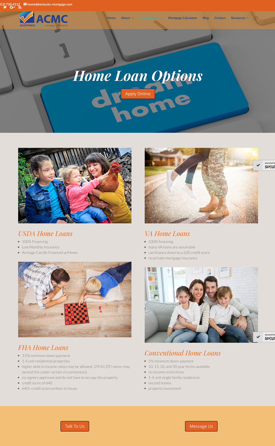 Business Website Design For a Mortgage Bank