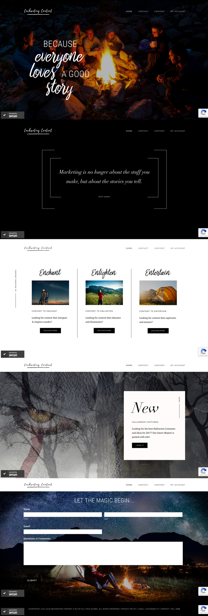 Enchanting Content Website Design