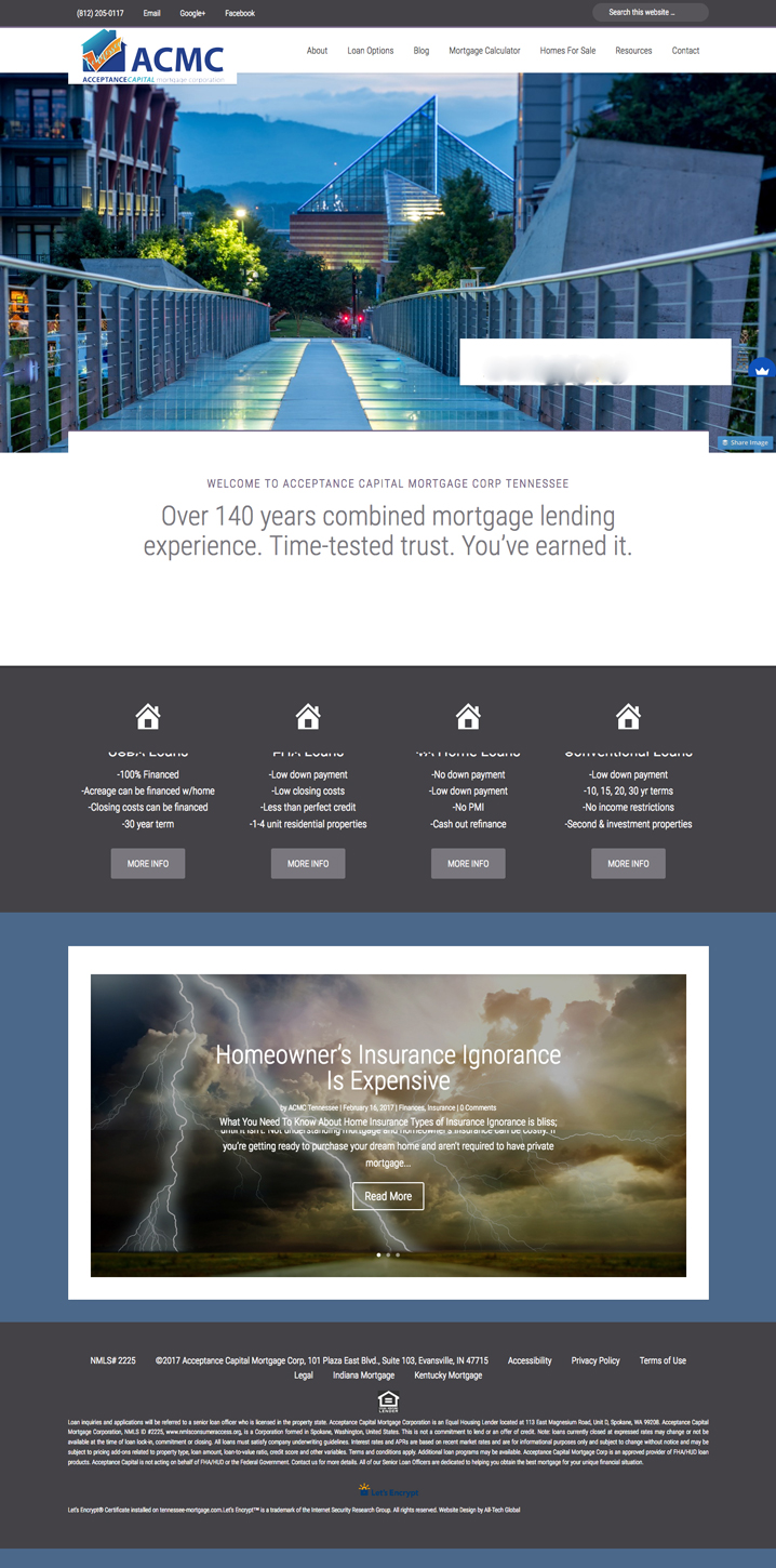 Mortgage Business Web Presence Creation Interactive Forms