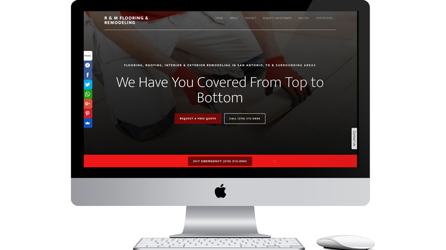 Local Flooring Business Web Design