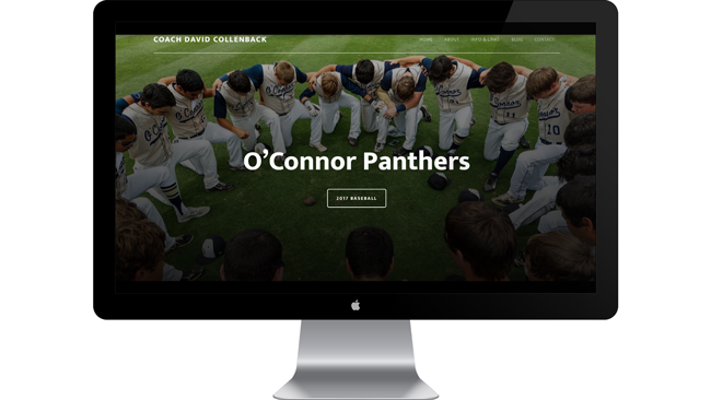 School Web Site with Live Game Feed