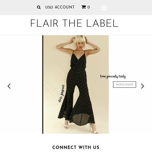 Flair the label