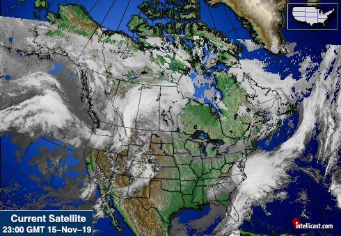 North America Weather Satellite Image
