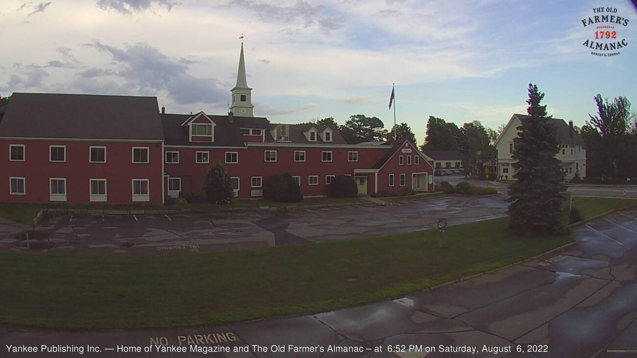 Live webcam image of Dublin, New Hampshire from The Old Farmer's Almanac