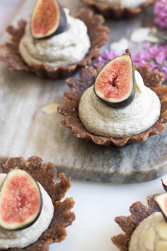 Raw Vanilla, Almond, and Fig Tarts Recipe   ALOHA