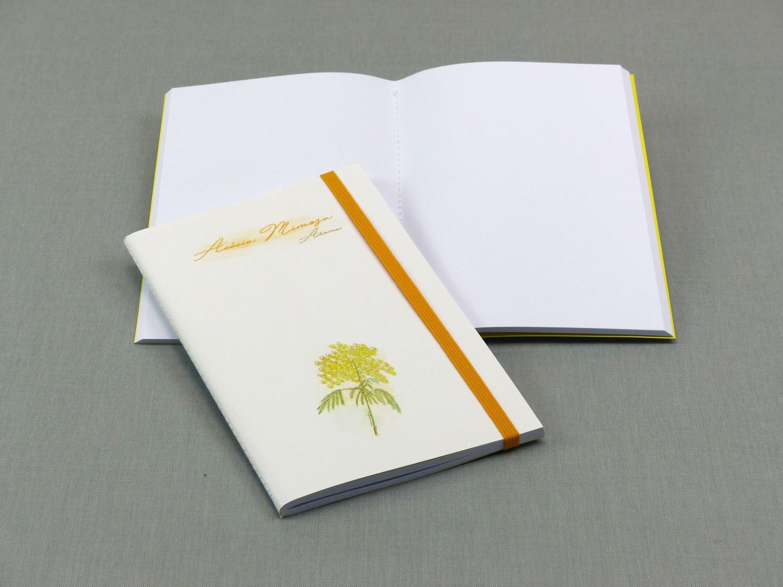 Caderno com costura Singer Acácia médio
