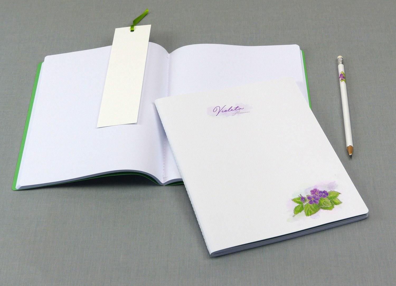 Caderno com costura Singer Violeta