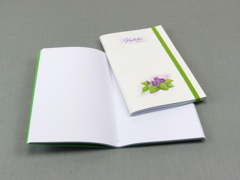 Caderno com costura Singer Violeta médio