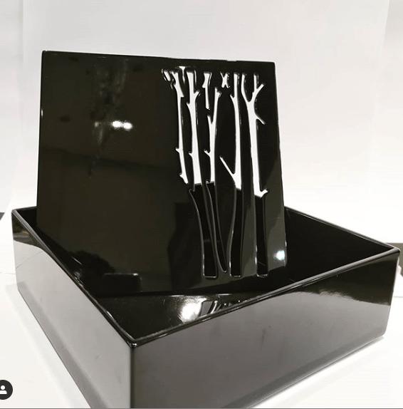 Caixa de Acrílico preta