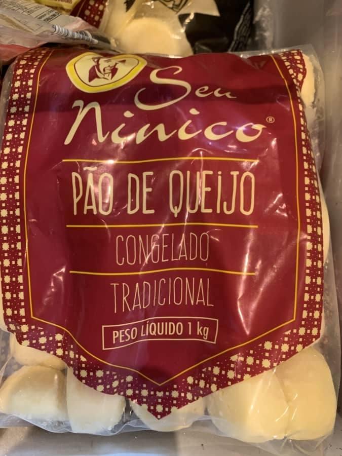 Pão de Queijo Seu Ninico congelado pacote 2,5kg