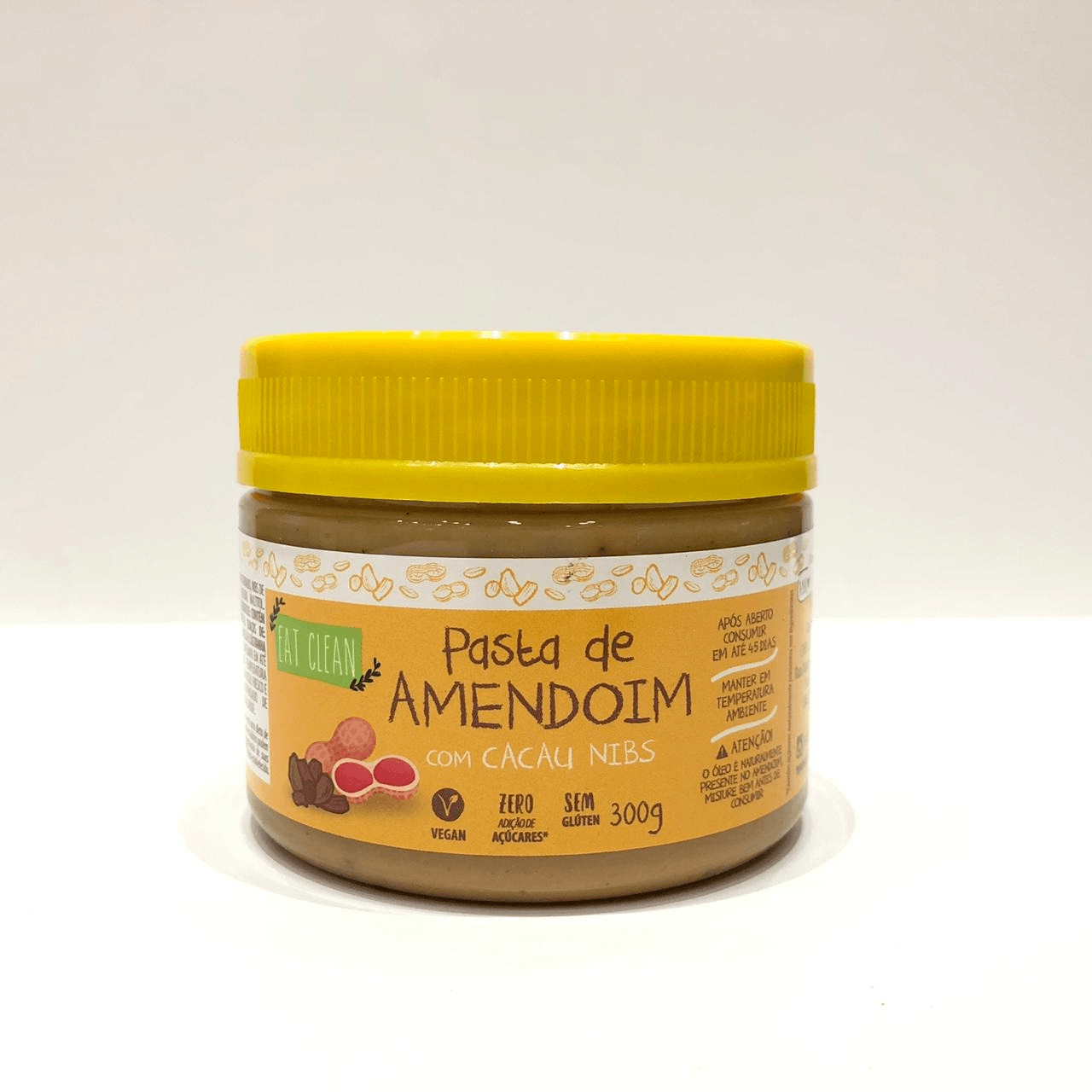 PASTA DE AMENDOIM CACAU NIBS 300G (EAT CLEAN)