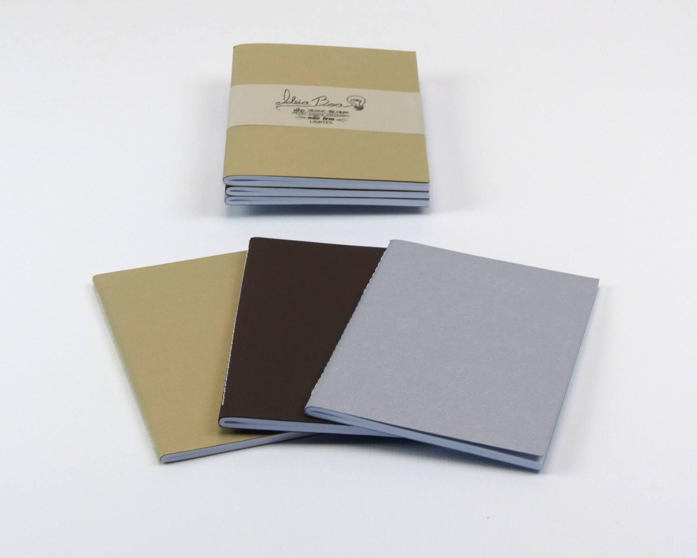 Trio de Cadernetas Dourado / Marrom / Prata