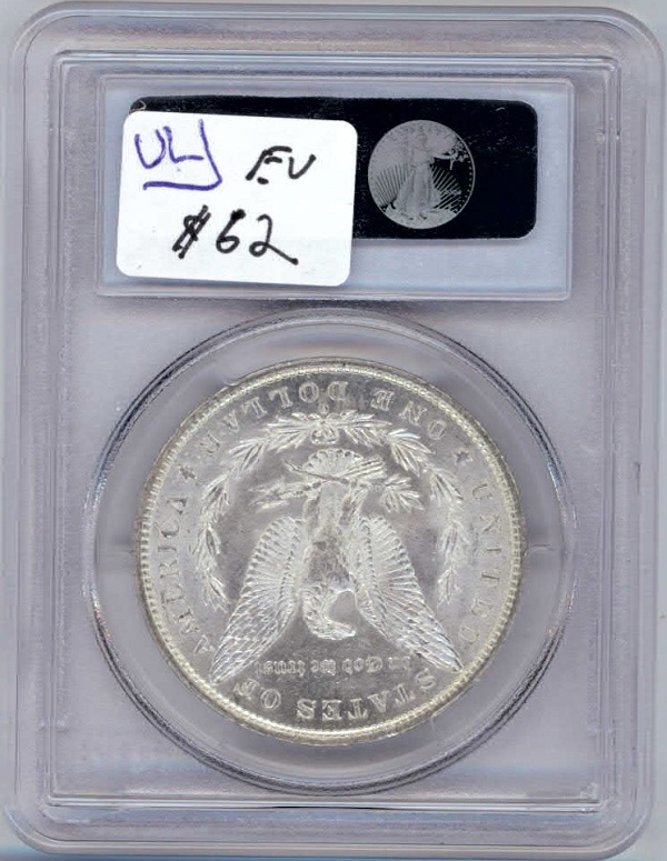 1883 Graded Morgan Peace Silver Dollar Back