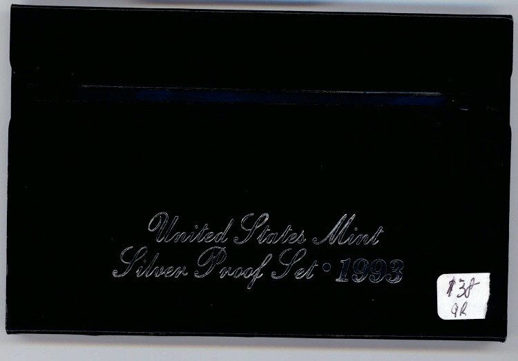 1993 United States Silver Proof Coin Set Box