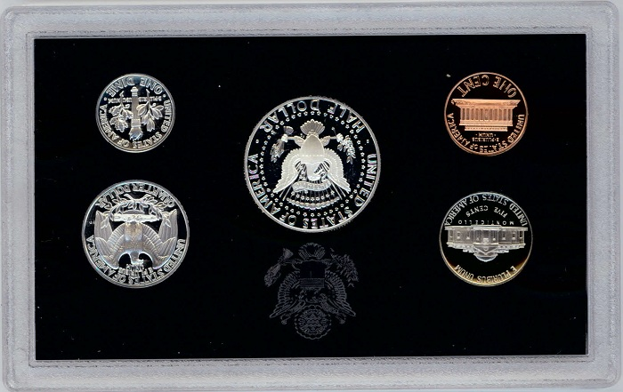 1993 United States Silver Proof Coin Set Back