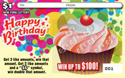 Happy Birthday Cupcakes Scratch off Ticket