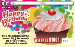 Happy Birthday Cupcakes Scratch off Ticket