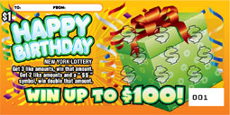 Happy Birthday Presents Scratch off Ticket