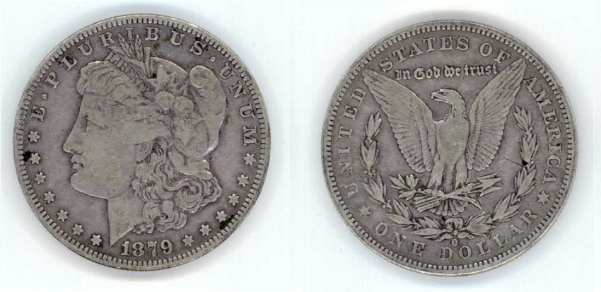 1879 Morgan Peace Silver Dollar