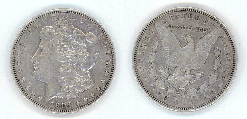 1904 Morgan Peace Silver Dollar